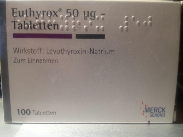 Biete 1 Packung Euthyrox 50 microgramm Tabletten Merck