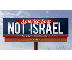 America first! Not israel!