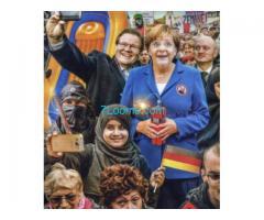 Das richtige Bild von Merkel, Merkel ist geisteskrank! Und erlöst sich hoffentlich selbst!