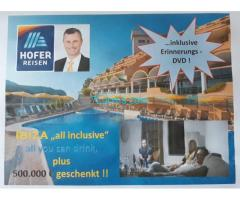 Hofer Reisen Ibiza inclusive all you can drink and 500.000,- € geschenkt inclusive Erinnerungs DVD;