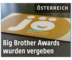 Der Rewe Konzern Jö-Bonus Club; Gewinner des Big Brother Awards 2019! Die Top DatenProfiler!