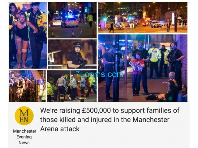 We're raising £ 1/2 Mio support families of those killed, injured in the Manchester Arena attack