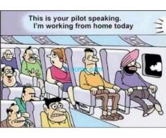 This is your PILOT speaking. I´m working from home today..........