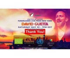 United at home Fundraising for Live from New York; https://davidguetta.com/donate/ ;