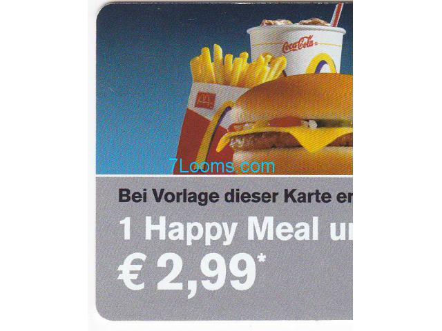 Mcdonalds Mc Family Bonus Card Happy Meal Um 299 Wien 7looms